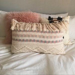 Other - Wide Macrame Fringe Boho Pillow